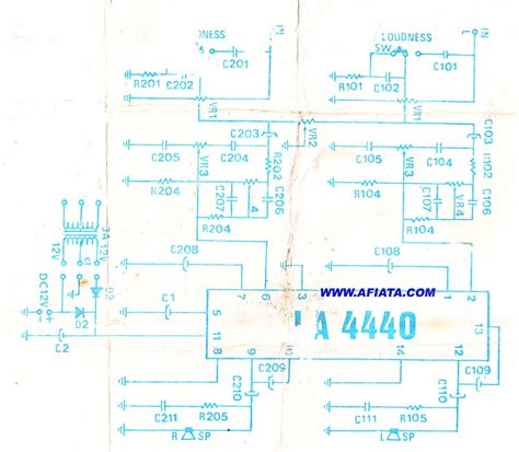 Ic La 4440 Integrated Circuit La4440 simple audio power lifier circuit electronic circuit diagram and layout