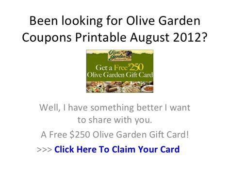 Olive Garden Discount Coupons by Olive Garden Coupons Printable August 2012