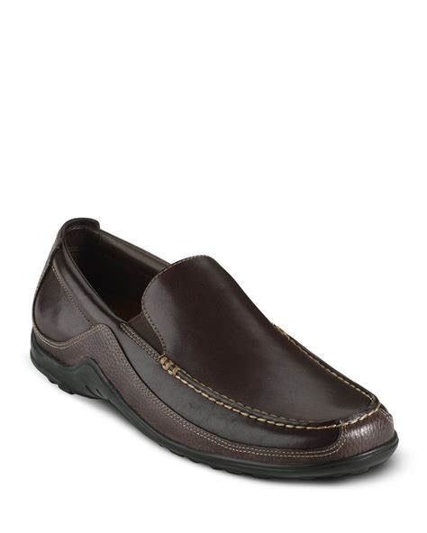 cole haan s tucker venetian shoe in black for lyst