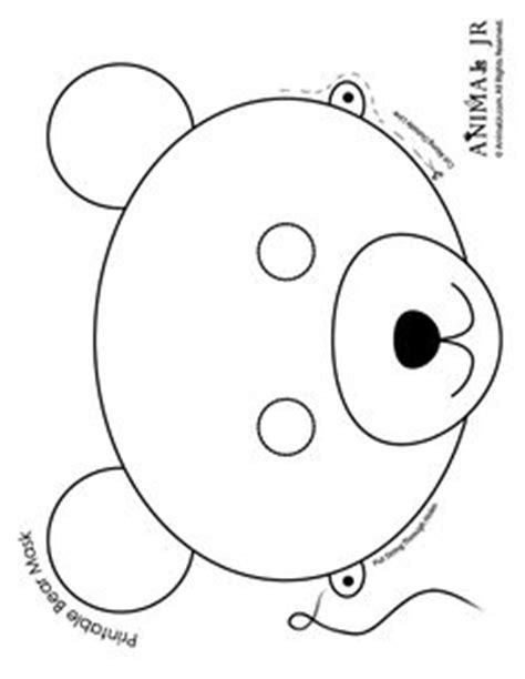 printable winter animal masks printable polar bear mask to color january preschool