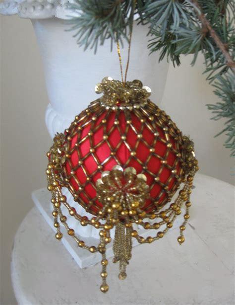 Handmade Balls Ornaments - inspired satin beaded sequin
