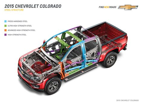 road layout en français 2015 chevrolet colorado goes on a diet with many steels