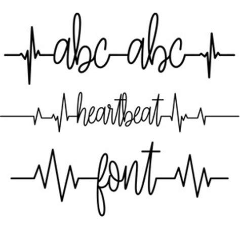 silhouette design store view design 153760 heartbeat font