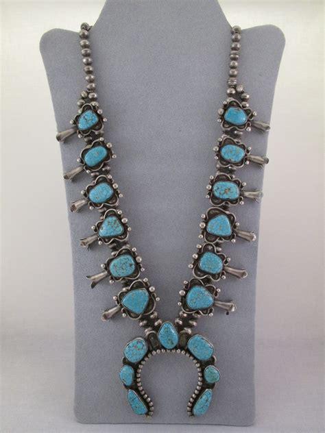 turquoise for sale vintage 8 turquoise squash blossom necklace antique squash