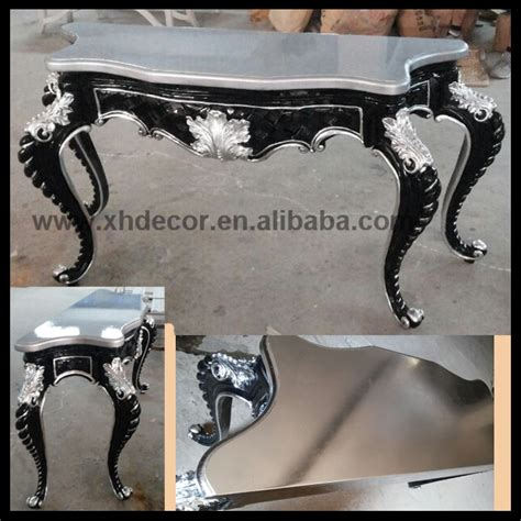 argento black accent table antoinette louis xv table silver and black color