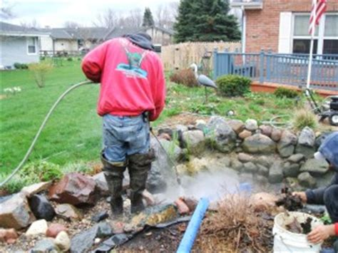 clean backyard pond how to clean my pond hurth waterscapes