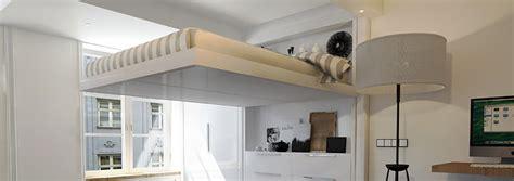 lit suspendu au plafond prix lits escamotables castor home