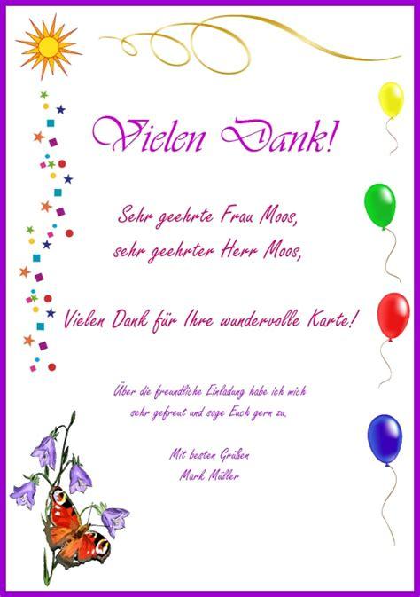 Vorlage Word Dankeskarte Danksagung Und Zusage Beispielbild Einer Dankeskarte
