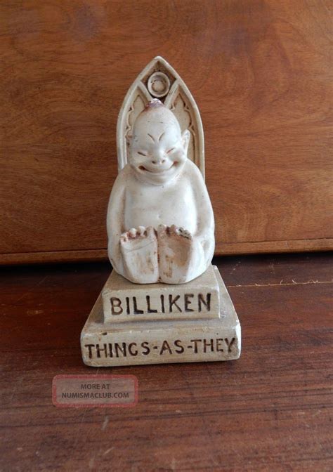 billiken figures 1908 billiken on throne figure luck billiken company