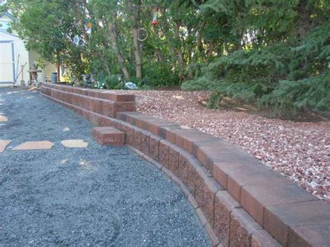 Raised Patio Edging by Retaining Walls And Raised Garden Bed Edging Four