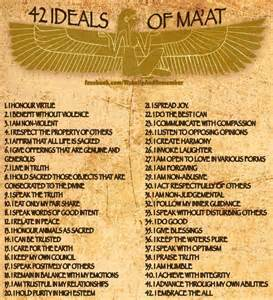 42 Principles of MAAT   Tell The TRUTH   T3