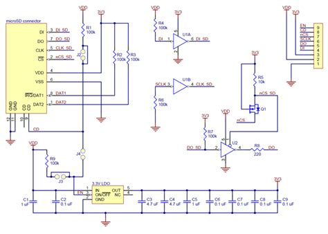 sd card diagram breakout board for microsd card with 3 3v regulator and