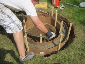 how to build a concrete pit lovely concrete forms pit garden landscape