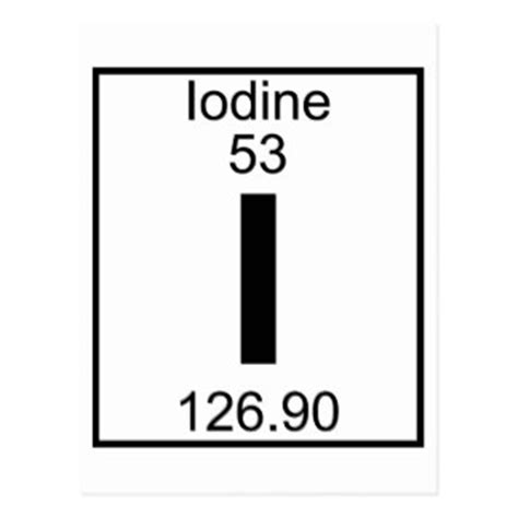 Iodine Periodic Table by Iodine Gifts On Zazzle