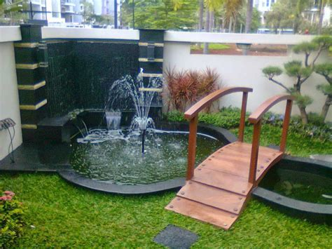 desain taman depan rumah dengan air mancur desain taman rumah minimalis abaslessy 39 s blog desain