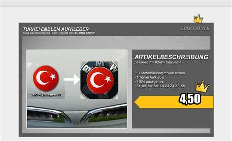 Bmw E61 Aufkleber by T 252 Rkei Emblem Aufkleber E90 E93 E61 E63 E64 Bmw Logo Ebay