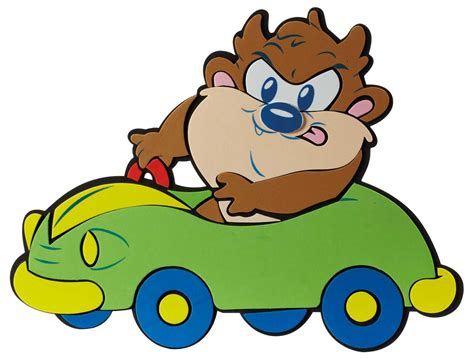 baby looney tunes taz looney taz φιγουρ τοιχου baby taz car μedium baby