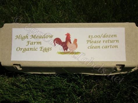 24 custom egg carton labels personalized printed egg
