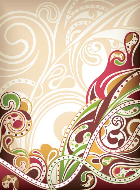 background with ornaments vector vector graphic freebies