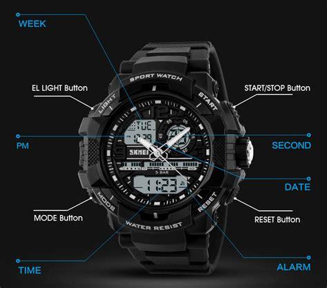 Jam Tangan Pria Tajima Shock Anti Air Black Angka Yellow skmei jam tangan analog digital pria ad1164 black blue jakartanotebook
