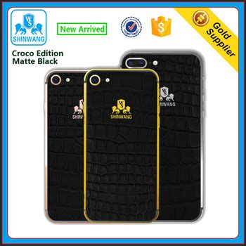 Matte Edition Iphone 7 2017 new croco edition matte black real leather housing for iphone 6 6plus and 7 7plus buy 24k