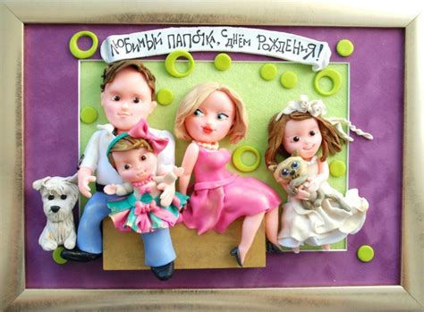 family portrait wall decor gift for family wall decor polymer clay sign family