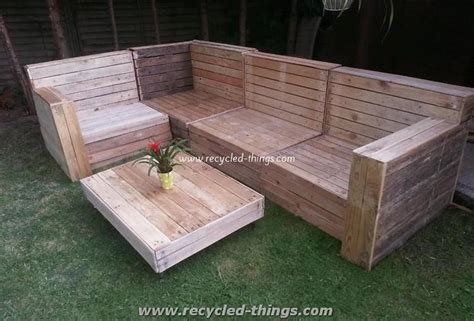 Patio Furniture From Pallet Wood Recycled Things How To Make Patio Furniture Out Of Pallets