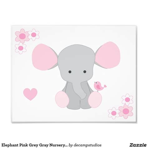 Pink Elephant Nursery Decor 162 Best Pink Grey Room Decor Images On Child Room Room And Office