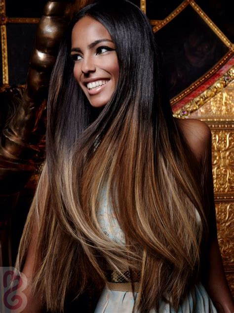 pictures of african american brown hair long straight black to brown ombre hair african american