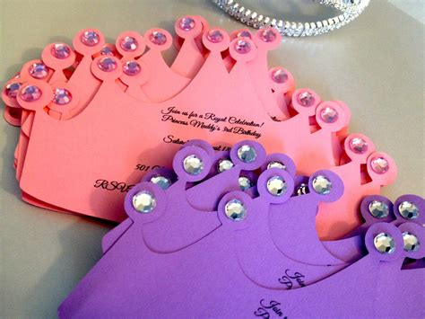 princess crown birthday invitations by takeitpersonallybym