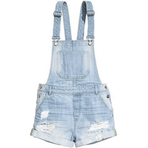 colored overalls h m denim bib shorts 21 liked on polyvore featuring