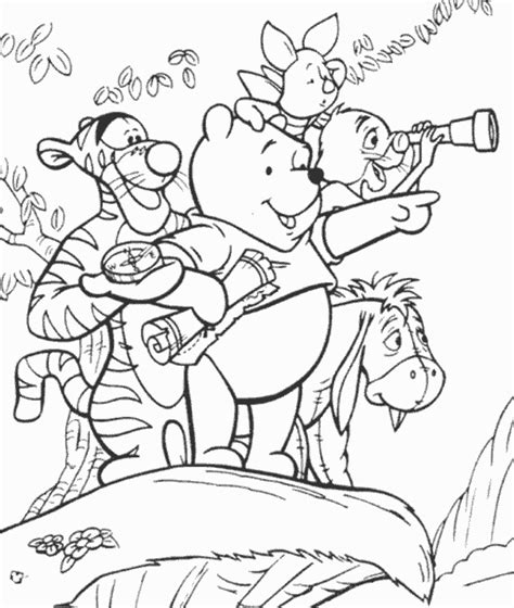 classic winnie the pooh coloring pages coloring home