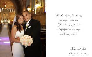 wedding thank you cards exles wedding photography and cinematography wedding thank you
