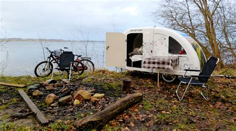 this expandable bike trailer is a mobile home that turns