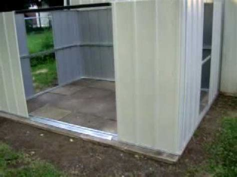 arrow metal shed build day  youtube