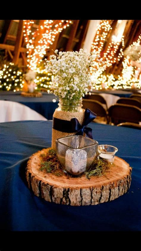 navy blue wedding centerpieces centerpiece from our wedding navy blue jars filled