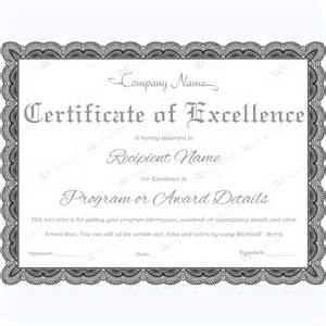 excellence award certificate template 89 award certificates for business and school events