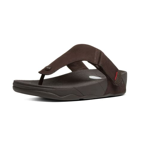 Sandal Wanita Fitflop Via Nubuck fitflop trakk ii mens toe post sandal in chocolate brown nubuck leather fitflop from
