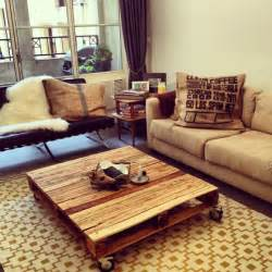 Diy Recycled Wood Coffee Table by La Table Basse Palette 60 Id 233 Es Cr 233 Atives Pour La
