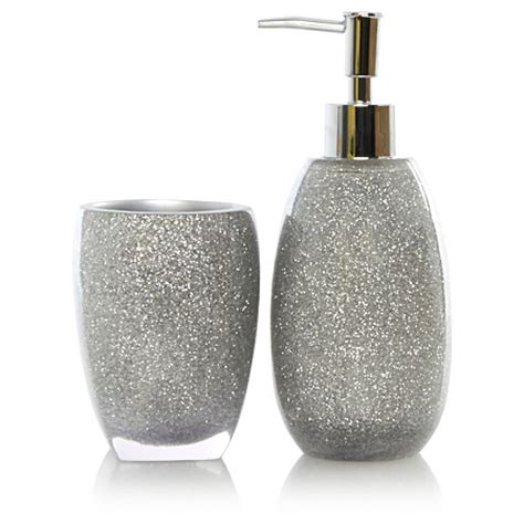 sparkle bathroom accessories george home silver glitter bathroom accessories bathroom