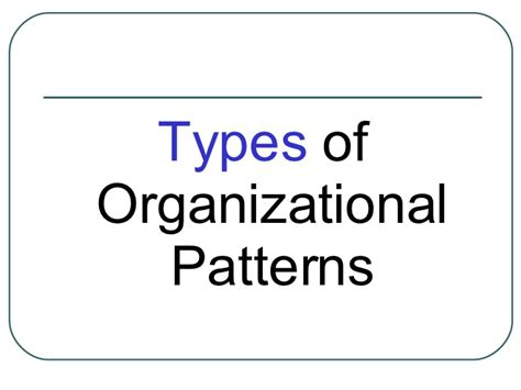 a topical pattern of speech organization has speech organization