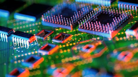 integrated circuit hd wallpaper assorted integrated circuits on printed circuit background stock 20545065 hd stock footage