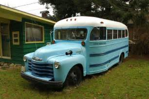 parked cars 1949 chevrolet 4500 school