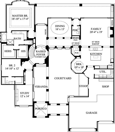 european style house plans 4101 square foot home 2