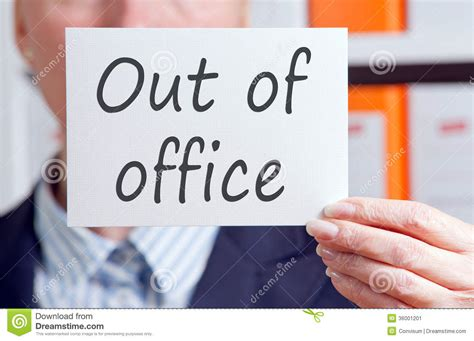 Out Of Office Sign by Business Out Of Office Sign Stock Image Image 36001201
