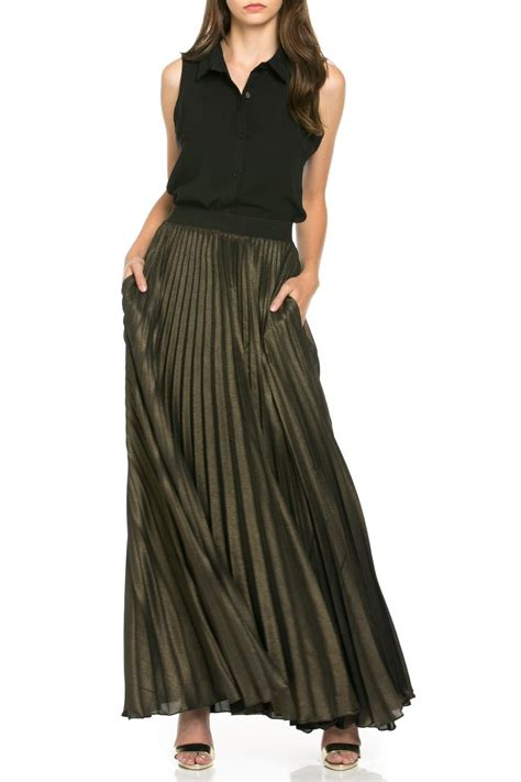 denim spot electric maxi skirt from california shoptiques