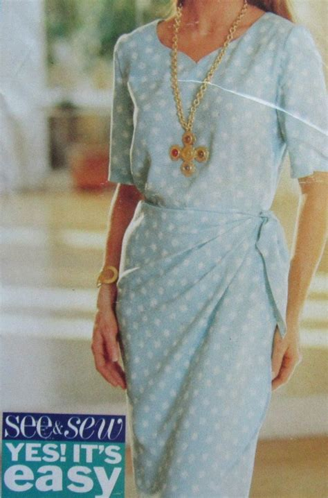 sewing pattern wrap top butterick 6879 uncut pattern misses top and wrap skirt see
