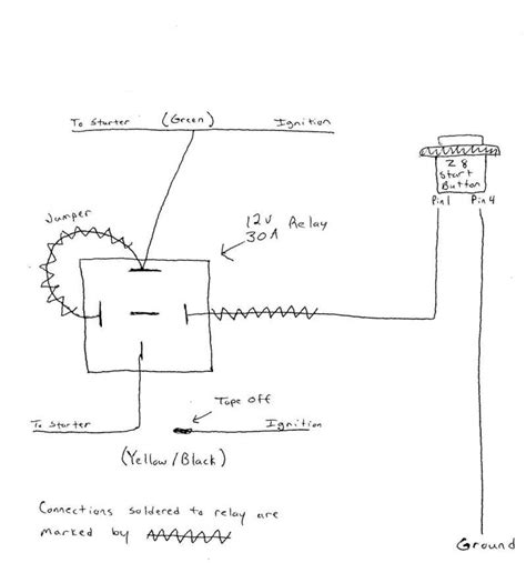 starter push on wiring diagram wiring diagram with