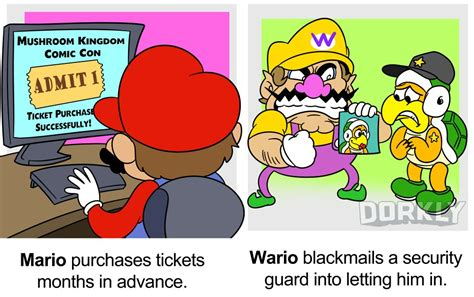 and wario how mario and wario attend a convention dorkly post