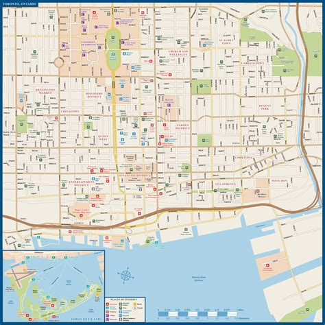map directions toronto toronto downtown map digital vector creative